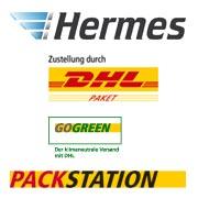 die Logos von Hermes und DHL